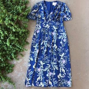 Gal Meets Glam Lauren Botanical Garden Midi Dress